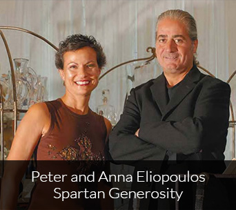 Peter and Anna Eliopoulos Spartan Generosity