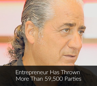Entrepreneur has thrown more than 59,500 Parties