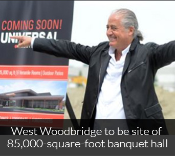 West Woodbridge to be site of 85,000-square-foot banquet hall