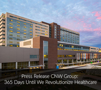 Press Release CNW Group: 365 Days Until We Revolutionize Healthcare