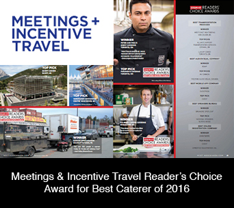 Meetings & Incentive Travel Reader's Choice Award for Best Caterer of 2016