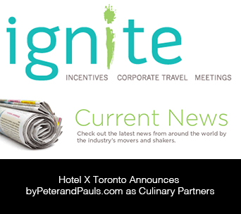Hotel X Toronto Announces byPeterandPauls.com as Culinary Partners