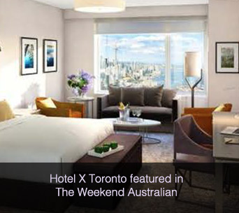 Hotel X Toronto featured in The Weekend Australian